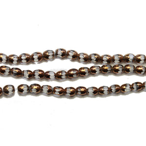 Super Bundle - Glass Copper/Crystal Faceted Oval 4x5mm BeadsBeads by Halcraft Collection
