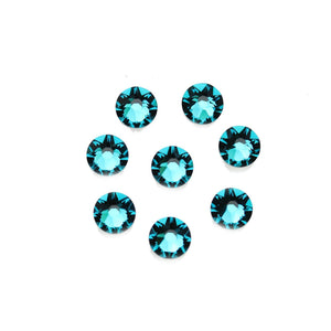 Cristales de Swarovski® 2088 Xirius Rose Flat Back, Foiled, SS34 (7.07-7.27mm) Blue Zircon - Beads by Bead Gallery