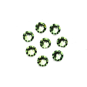 Swarovski® Crystals 2088 Xirius Rose Flat Back, Foiled, SS34 (7.07-7.27mm) Peridot - Beads by Bead Gallery