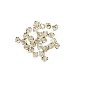 Swarovski® Crystals 5328 4mm Bicone Beads Faceted Crystal Golden Shadow - Beads by Bead Gallery