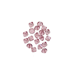 Cristales de Swarovski® 5328 4 mm Bicone Beads Faceted Light Rose - Beads by Bead Gallery