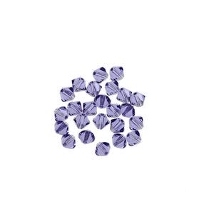 Cristales de Swarovski® 5328 4mm Bicone Beads Faceted Tanzanite - Beads by Bead Gallery