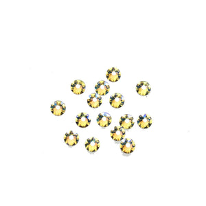 Cristales de Swarovski® 2088 Xirius Rose Flat Back, Foiled, SS16 (3.8-4mm) Crystal Shimmer - Beads by Bead Gallery
