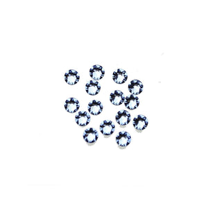 Cristales de Swarovski® 2088 Xirius Rose Flat Back, Foiled, SS16 (3.8-4mm) Light Sapphire - Beads by Bead Gallery