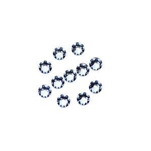 Swarovski® Crystals 2088 Xirius Rose Flat Back, Foiled, SS20 (4.6-4.8mm) Light Sapphire - Beads by Bead Gallery