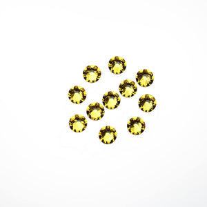Cristales de Swarovski® 2088 Xirius Rose Flat Back, Foiled, SS20 (4.6-4.8mm) Light Topaz - Beads by Bead Gallery