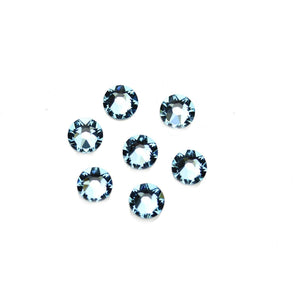 Swarovski® Crystals 2088 Xirius Rose Flat Back, Foiled, SS30 (6.32-6.5mm) Aquamarine - Beads by Bead Gallery
