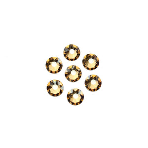 Cristales de Swarovski® 2088 Xirius Rose Flat Back, Foiled, SS30 (6.32-6.5mm) Crystal Golden Shadow - Beads by Bead Gallery