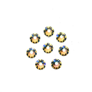 Cristales de Swarovski® 2088 Xirius Rose Flat Back, Foiled, SS30 (6.32-6.5mm) Crystal Shimmer - Beads by Bead Gallery