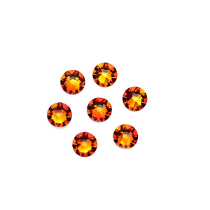Swarovski® Crystals 2088 Xirius Rose Flat Back, Foiled, SS30 (6.32-6.5mm) Fireopal - Beads by Bead Gallery