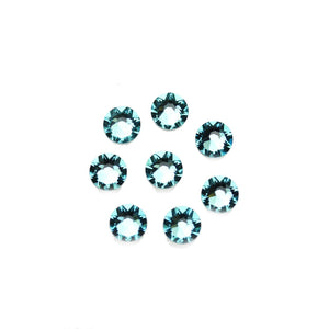 Swarovski® Crystals 2088 Xirius Rose Flat Back, Foiled, SS30 (6.32-6.5mm) Light Turquoise - Beads by Bead Gallery