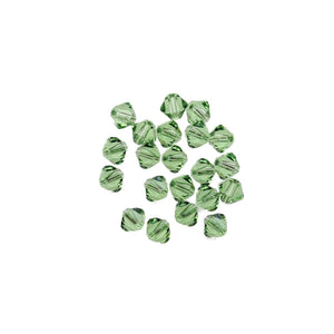 Swarovski® Crystals 5328 4mm Bicone Beads Faceted Peridot - Beads by Bead Gallery