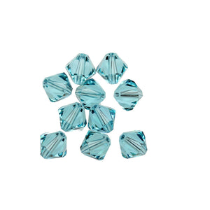 Cristales Swarovski® 5328 8mm Bicone Beads Faceted Light Turquoise - Beads by Bead Gallery