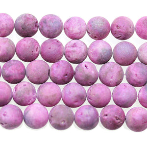 Grape Purple Dyed Druzy Stone 10mm Round BeadsBeads by Halcraft Collection