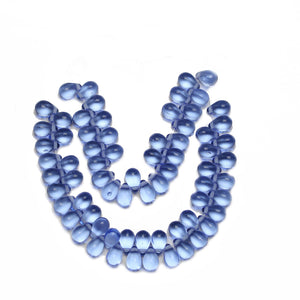 Super Bundle - Czech Glass Light Sapphire Teardrop BeadsBeads by Halcraft Collection