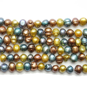 Super Bundle - Fresh Water Pearl Multi 6mm Potato BeadsBeads by Halcraft Collection
