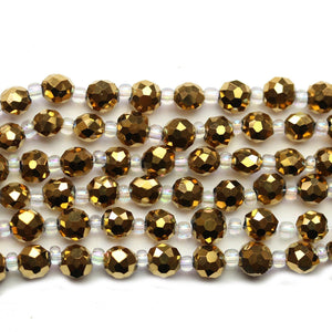 Super Bundle - Glass Gold Iris 6mm Faceted Rondell BeadsBeads by Halcraft Collection