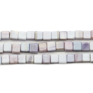 Faceted Natural Mystic Moonstone Purple Cube 6.3mm BeadsBeads by Halcraft Collection
