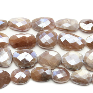 Faceted Natural Mystic Moonstone with Luster Pink Oval 10-13x14-17mm BeadsBeads by Halcraft Collection