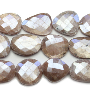 Faceted Natural Mystic Moonstone with Luster Pink Oval 16x21mm BeadsBeads by Halcraft Collection