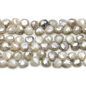 Faceted Natural Mystic Moonstone with Luster Top Hole Teardrop 7mm BeadsBeads by Halcraft Collection