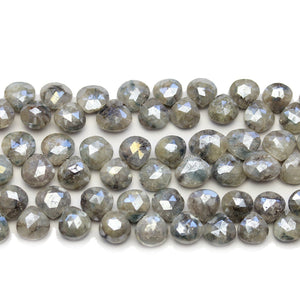 Faceted Natural Mystic Moonstone with Luster Top Hole Teardrop 7-8mm BeadsBeads by Halcraft Collection