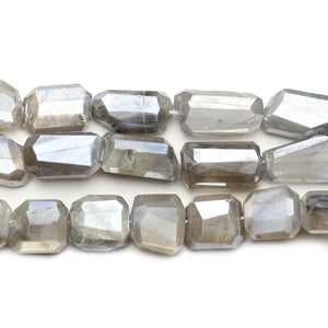 Faceted Natural Mystic Moonstone with Luster Nugget 11x14mm BeadsBeads by Halcraft Collection