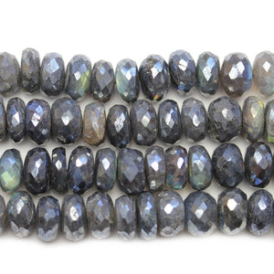 Lustered Labradorite Faceted Rondell 7x11mm BeadsBeads by Halcraft Collection