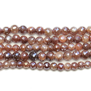 Faceted Natural Mystic Moonstone with Luster Purple Round 6mm BeadsBeads by Halcraft Collection