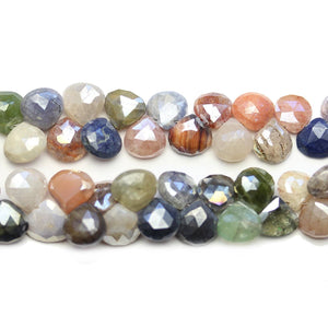 Lustered Mixed Stone Faceted Top Hole Teardrop 9mm BeadsBeads by Halcraft Collection