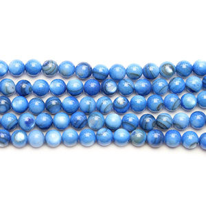 Blue Dyed Shell Round 6mm BeadsBeads by Halcraft Collection