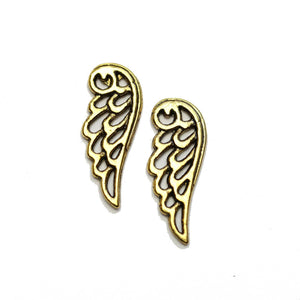 Gold Tone Wing 9x24mm Charms - 2pcsCharm by Halcraft Collection
