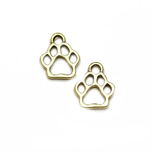 Paw Gold Tone 17mm Charms - 2pcsCharm by Halcraft Collection