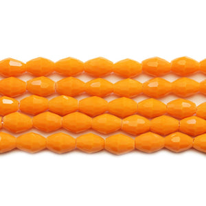 Orange Glass Faceted Oval 6x8mm BeadsBeads by Halcraft Collection