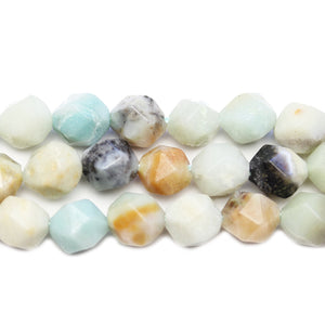 Amazonite Stone Faceted Round 8.3mm BeadsBeads by Halcraft Collection