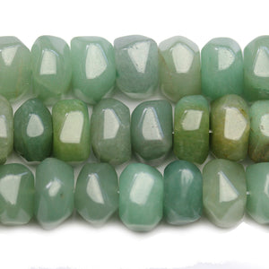 Green Stone Faceted Rondell 10x12mm BeadsBeads by Halcraft Collection