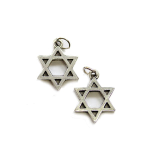 Silver Plated Star of David 16x21.5mm Charms - 2pcsCharm by Halcraft Collection