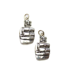 Silver Plated Sail Boat 12x21mm Charms - 2pcsCharm by Halcraft Collection