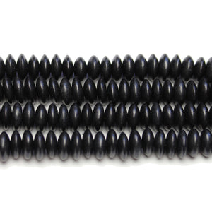 Philippine Polished Wood Black 4x10mm Rondell BeadsBeads by Halcraft Collection