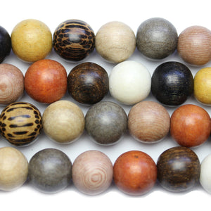 Philippine Polished Wood Multi Color 15mm Round BeadsBeads by Halcraft Collection