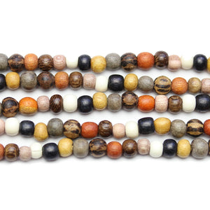 Philippine Polished Wood Multi Color 4mm Round BeadsBeads by Halcraft Collection
