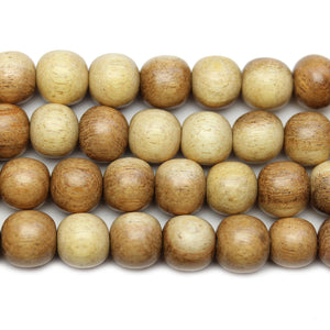 Philippine Polished Tiger Wood Natural Tan 10mm Round BeadsBeads by Halcraft Collection