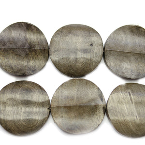 Philippine Polished Wood Carved Disk Bead 30mm Round BeadsBeads by Halcraft Collection