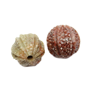 Carved Soap Stone Round 24mmBeads by Halcraft Collection