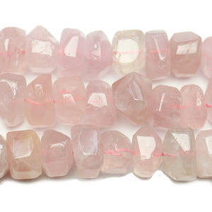 Rose Quartz Stone Rondell 9x14mm BeadsBeads by Halcraft Collection