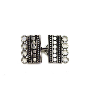 Silver Plated 15x22mm Dotted Bali ClaspFindings by Halcraft Collection