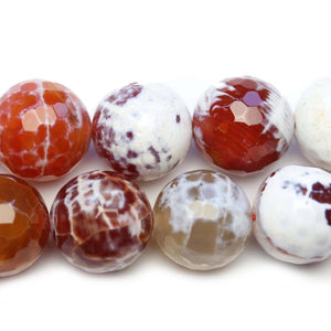 Semi Precious Amber Dyed Crazy Agate Faceted Round 20mm BeadsBeads by Halcraft Collection