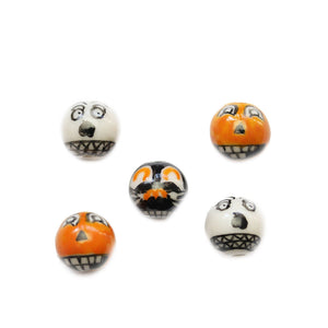 Ceramic Jack O Lantern Mix 12mm BeadsBeads by Halcraft Collection