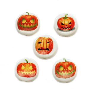 Ceramic Jack O Lantern Mix 20mm BeadsBeads by Halcraft Collection