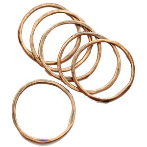 Wavy Copper Loop 31mm Charms - 6pcsCharm by Halcraft Collection